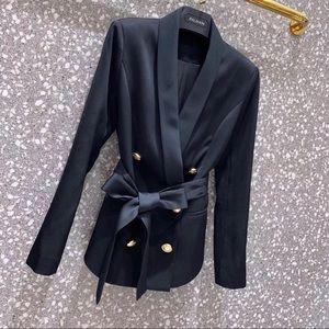 Balmain Jackets & Coats - Balmain double-breasted crepe blazer
